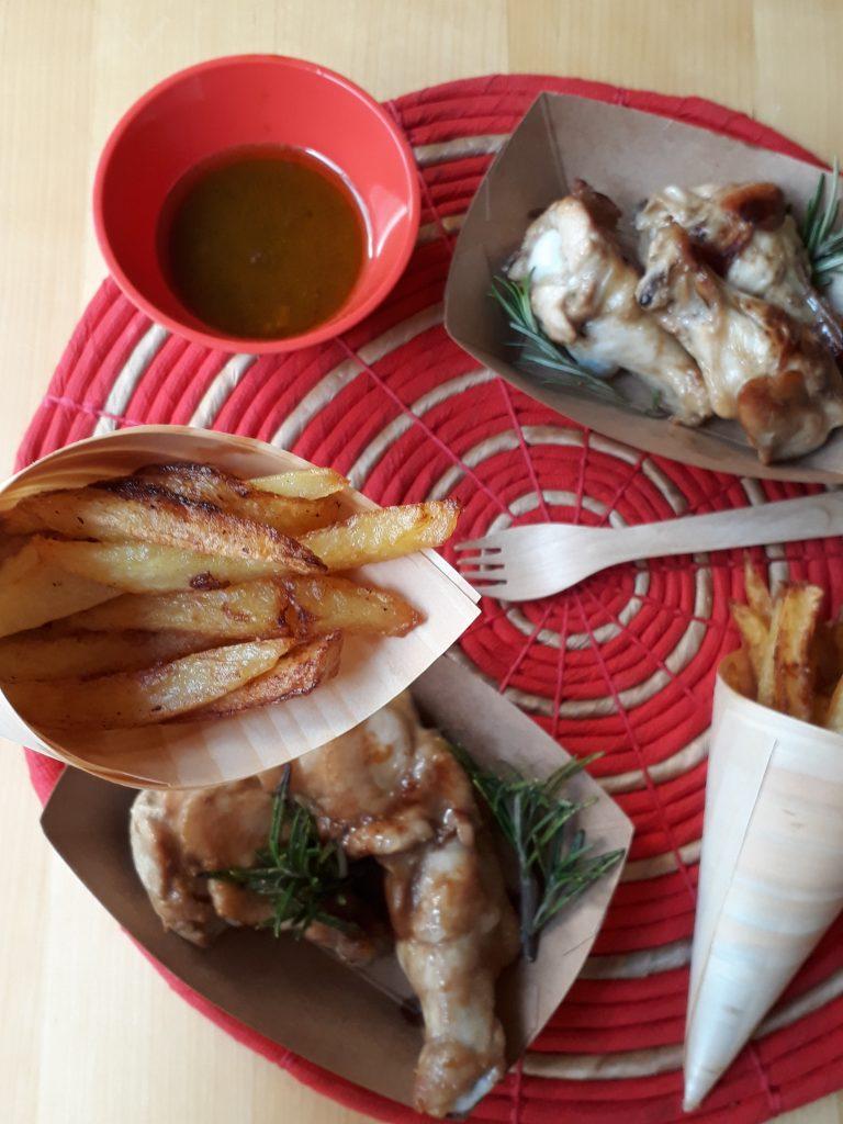 alette di pollo speziate e marinate