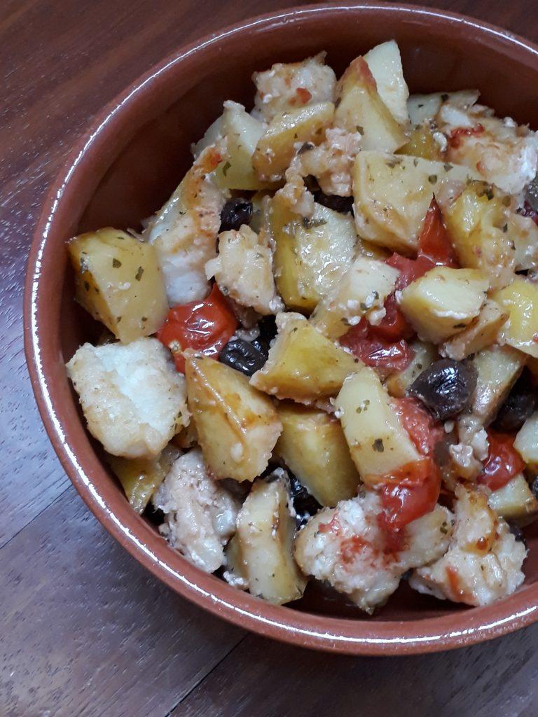 baccalà con olive e patate
