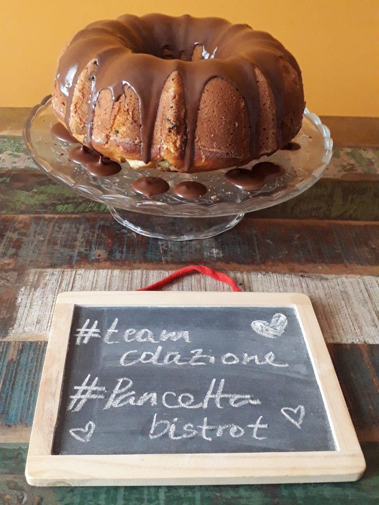 bundt cake ricotta pere e cioccolato