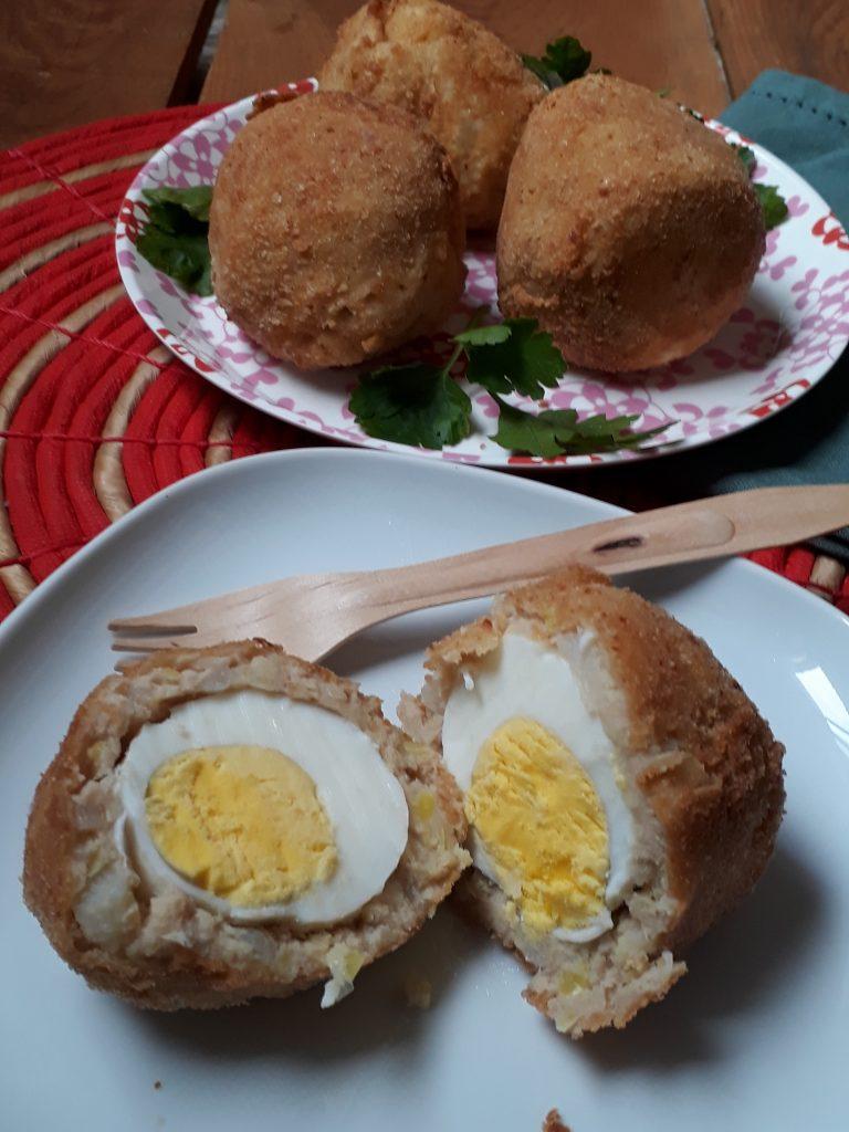 crocchette con uova sode