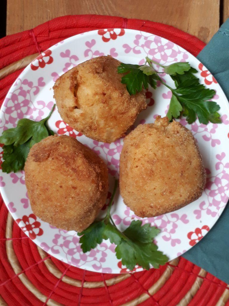 crocchette con uova sode e patate