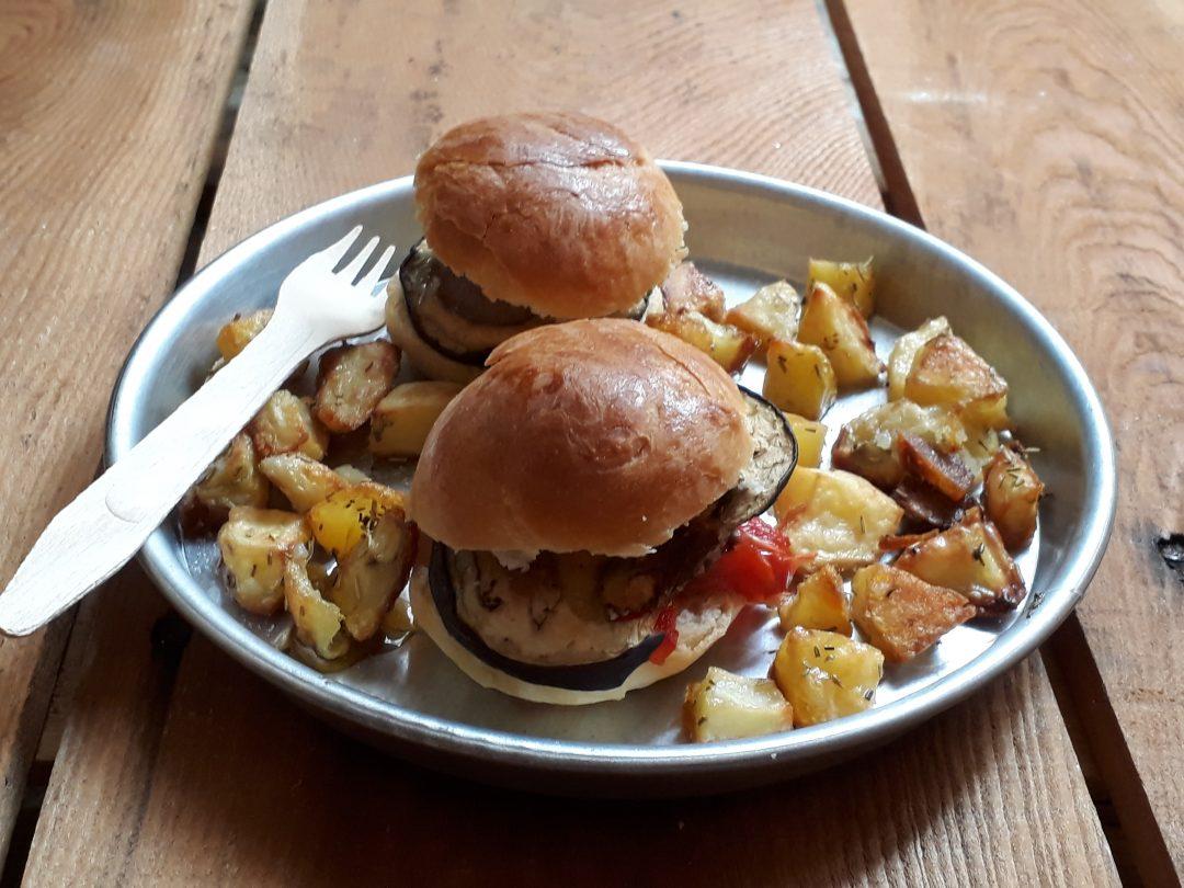mini panini con formaggio e verdure