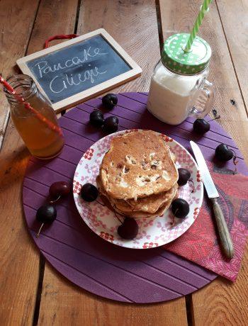 pancake con ciliegie a pezzetti