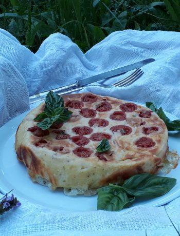 tortino mozzarella acciughe pomodori