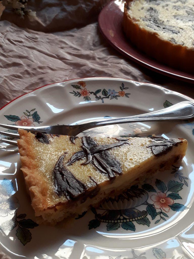 torta al limone con ganache al cioccolato