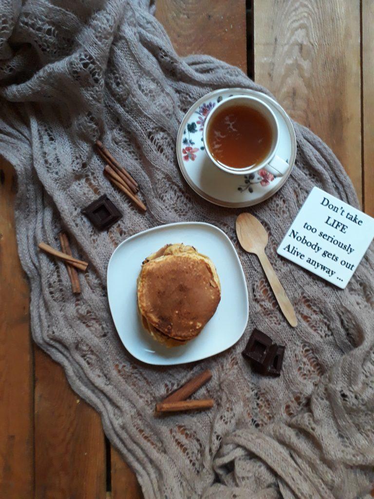 pancake alla zucca cioccolato e cannella