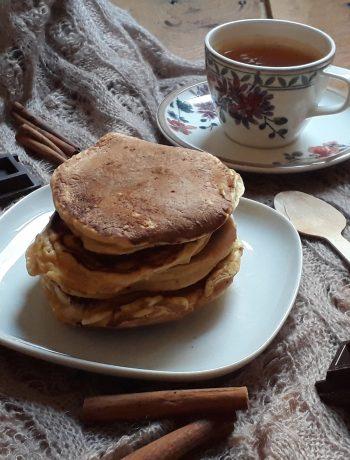 Pancake alla zucca cannella e cioccolato