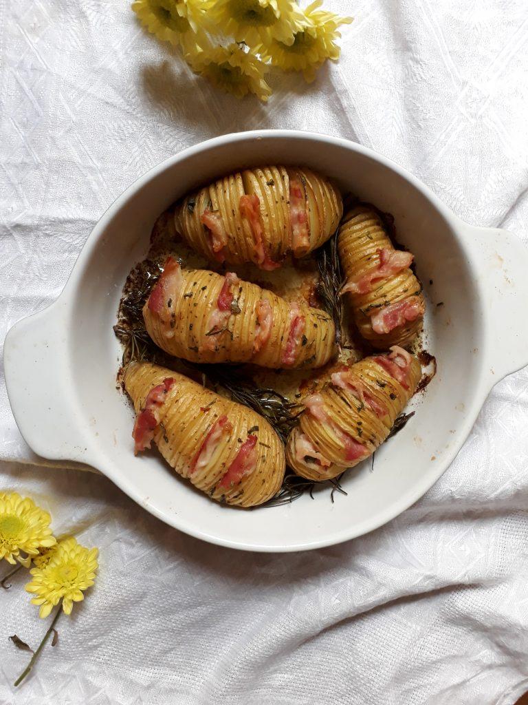 patate hasselback alla pancetta