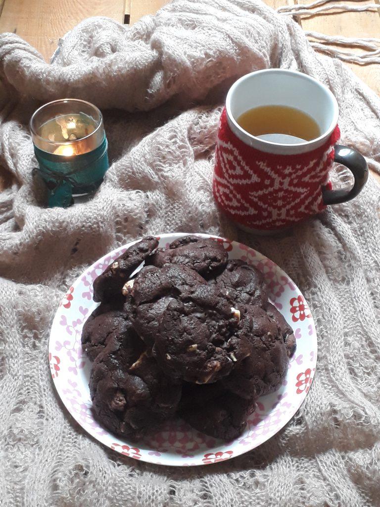 biscotti con tre tipi di cioccolato