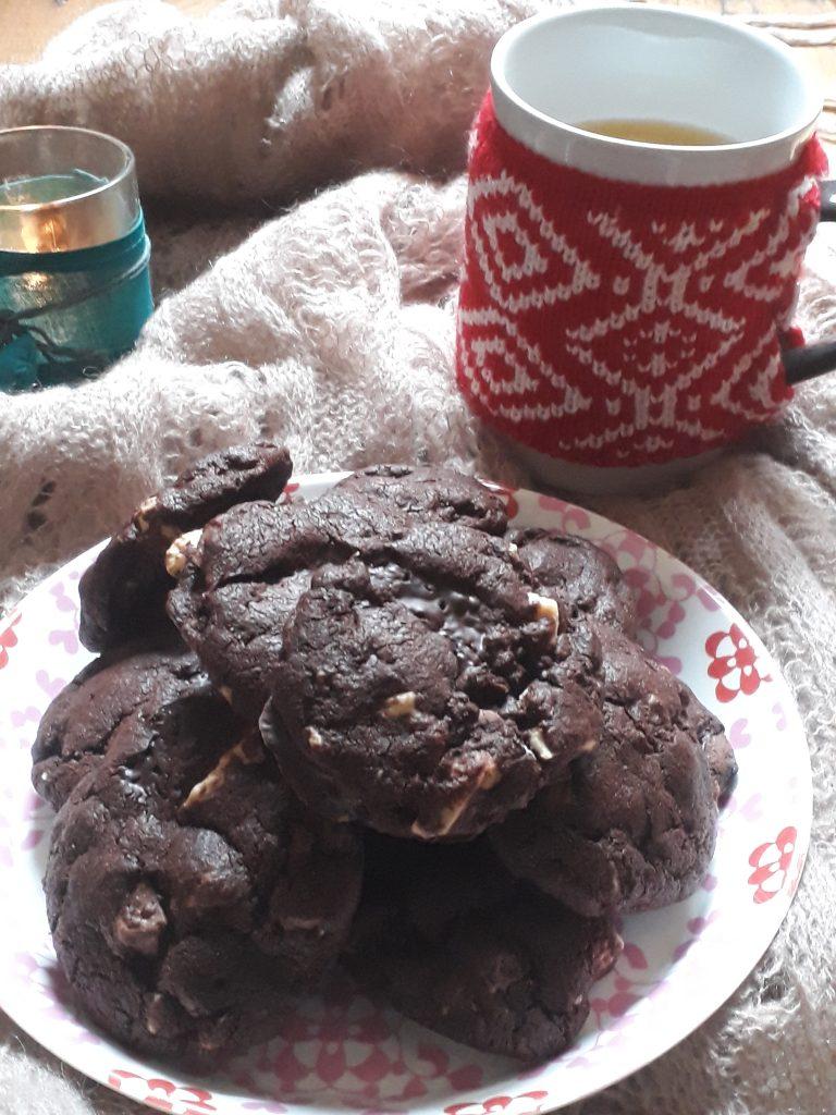 biscotti con tre cioccolati