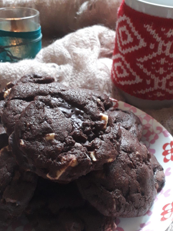 biscotti ai tre cioccolati