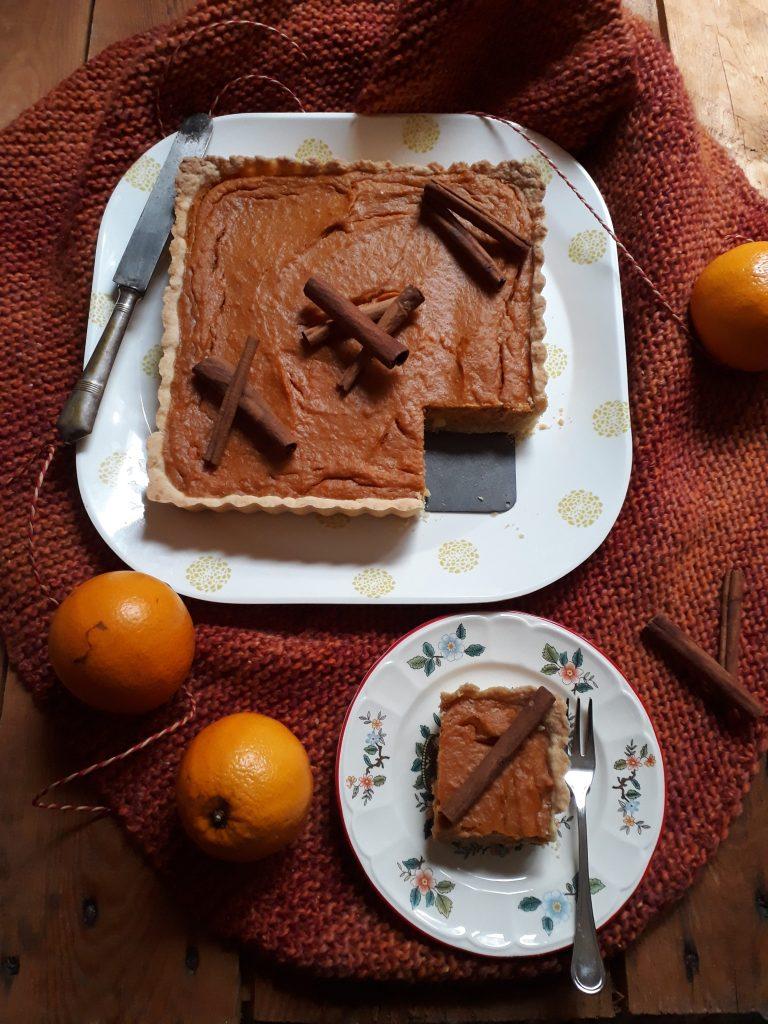 torta di patate dolci arancia e spezie