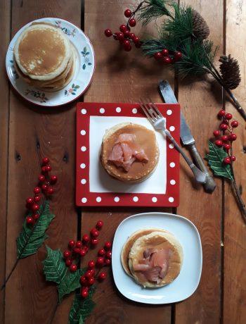 pancake insieme al salmone
