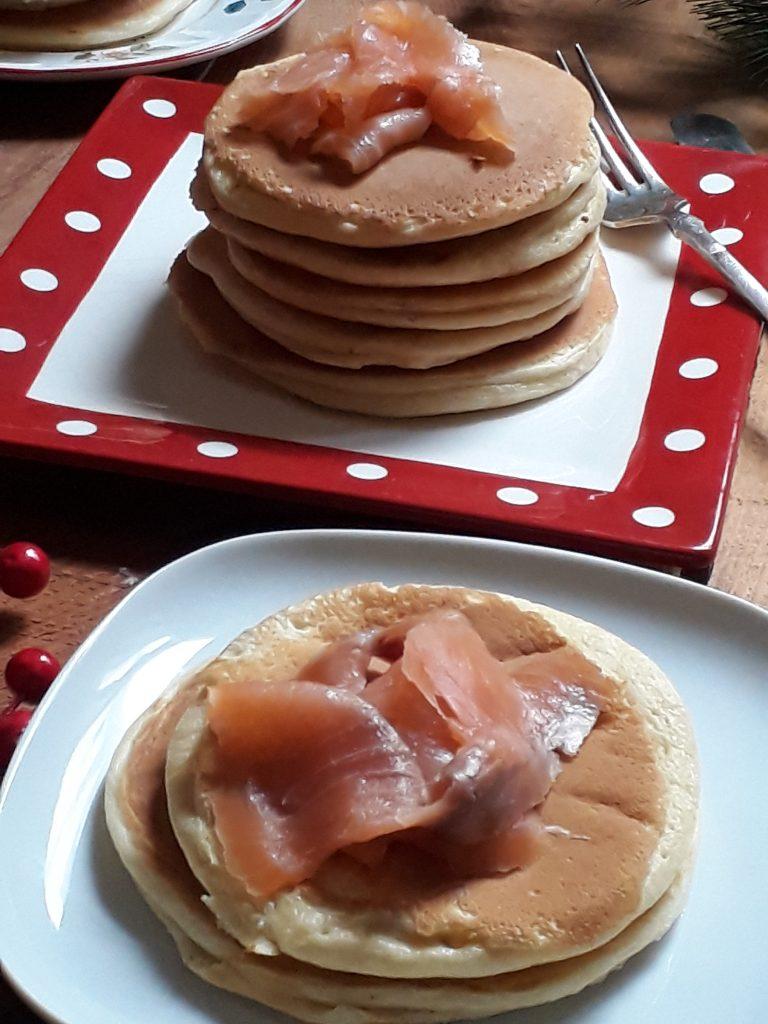 pancake con il salmone