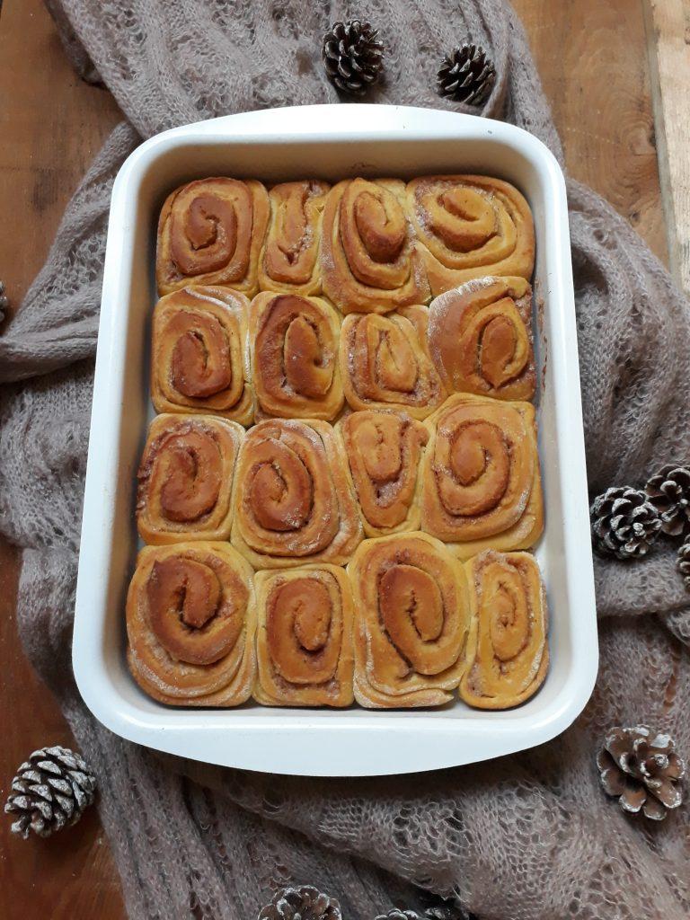 cinnamon rolls con zucca
