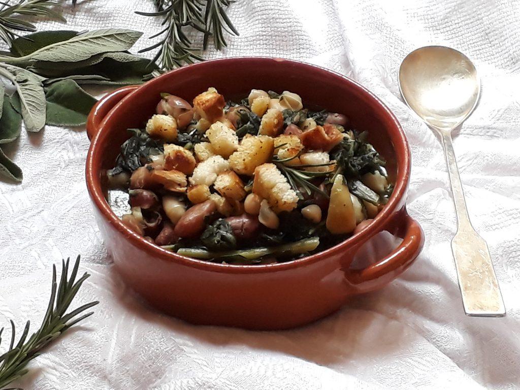 Zuppa con cavolo nero e fagioli
