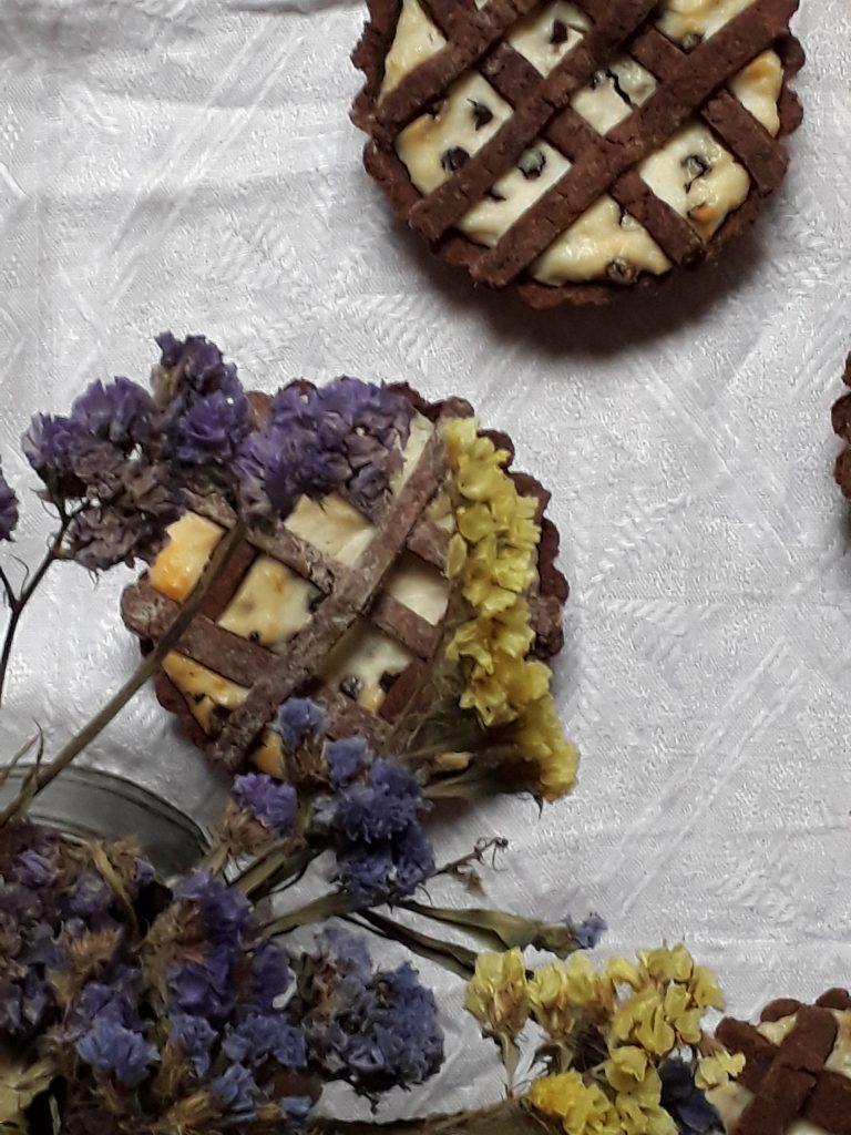 crostatine al cioccolato con la ricotta