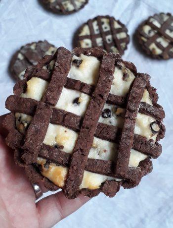 crostatine ricotta con cioccolato