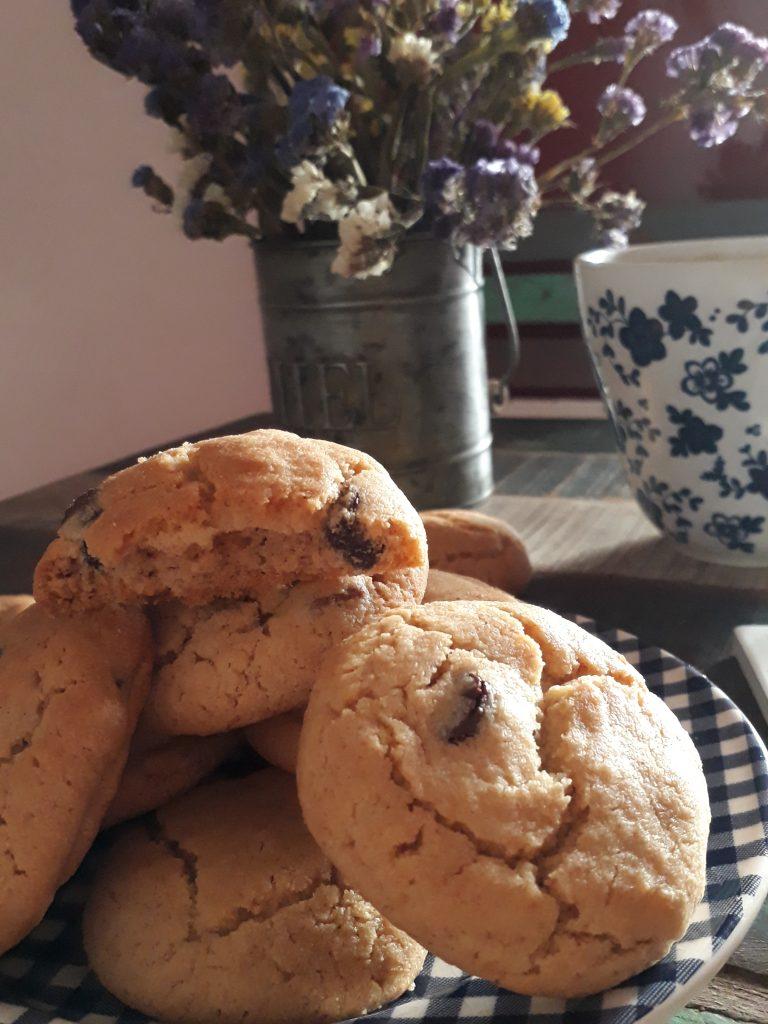 cookies burro di arachidi e cioccolato