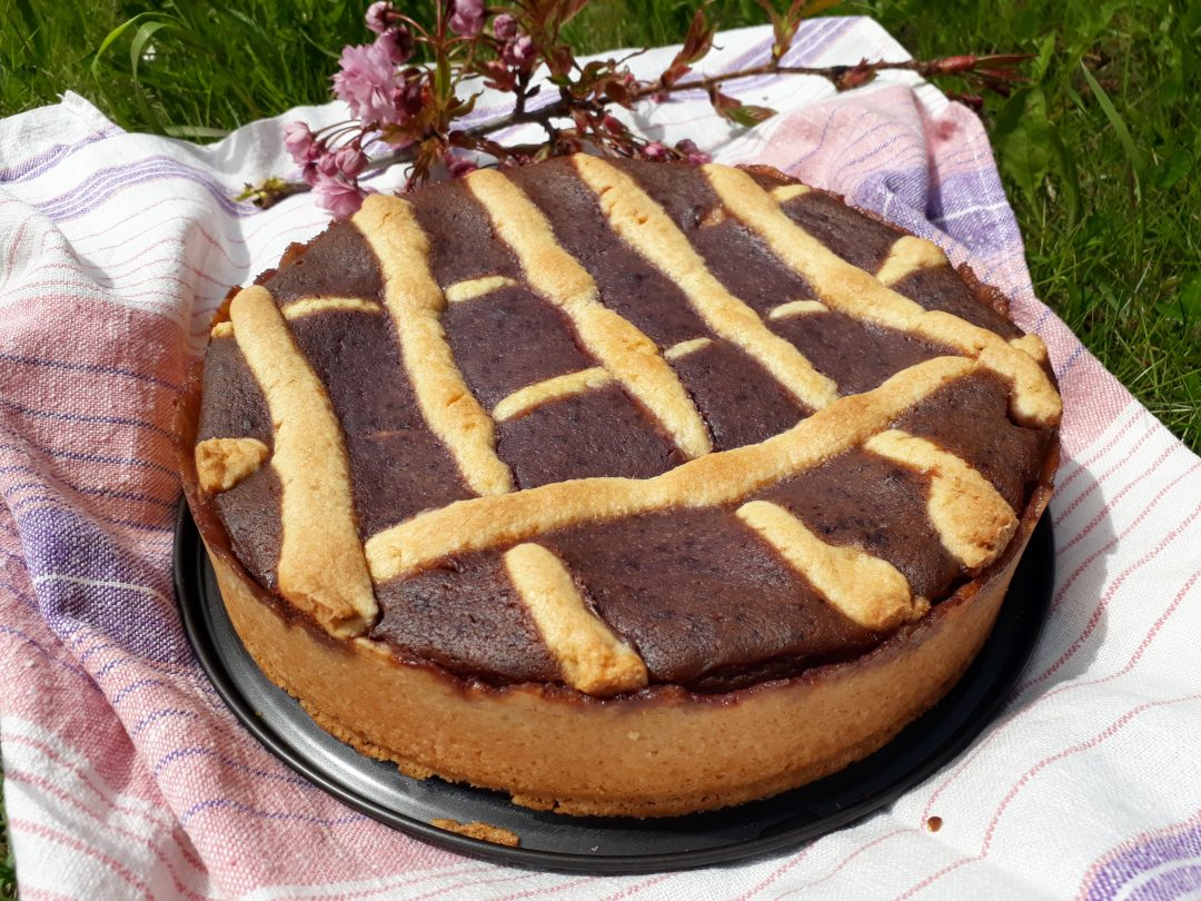 crostata ricotta e mirtilli