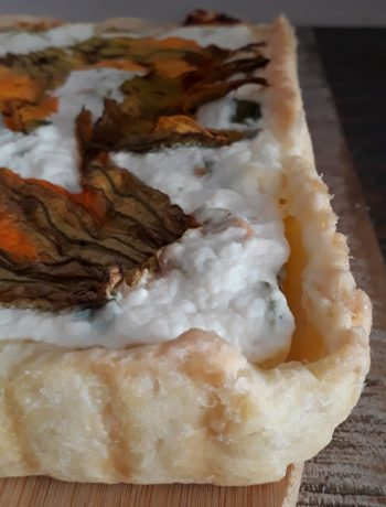 torta di ricotta zucchine e fiori di zucca