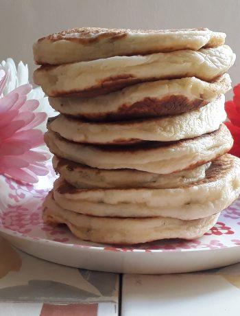 pancakes al basilico e parmigiano