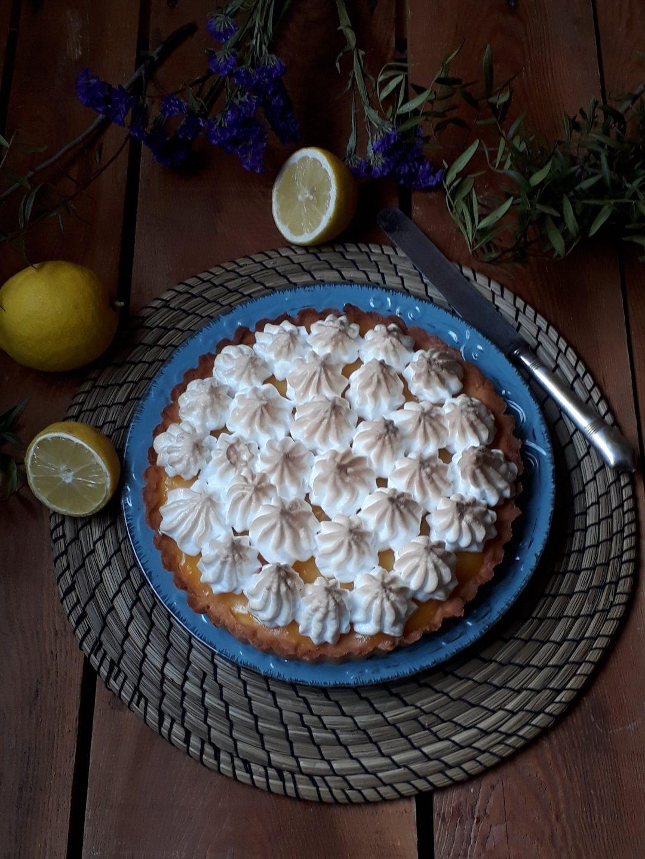 torta con limone meringata