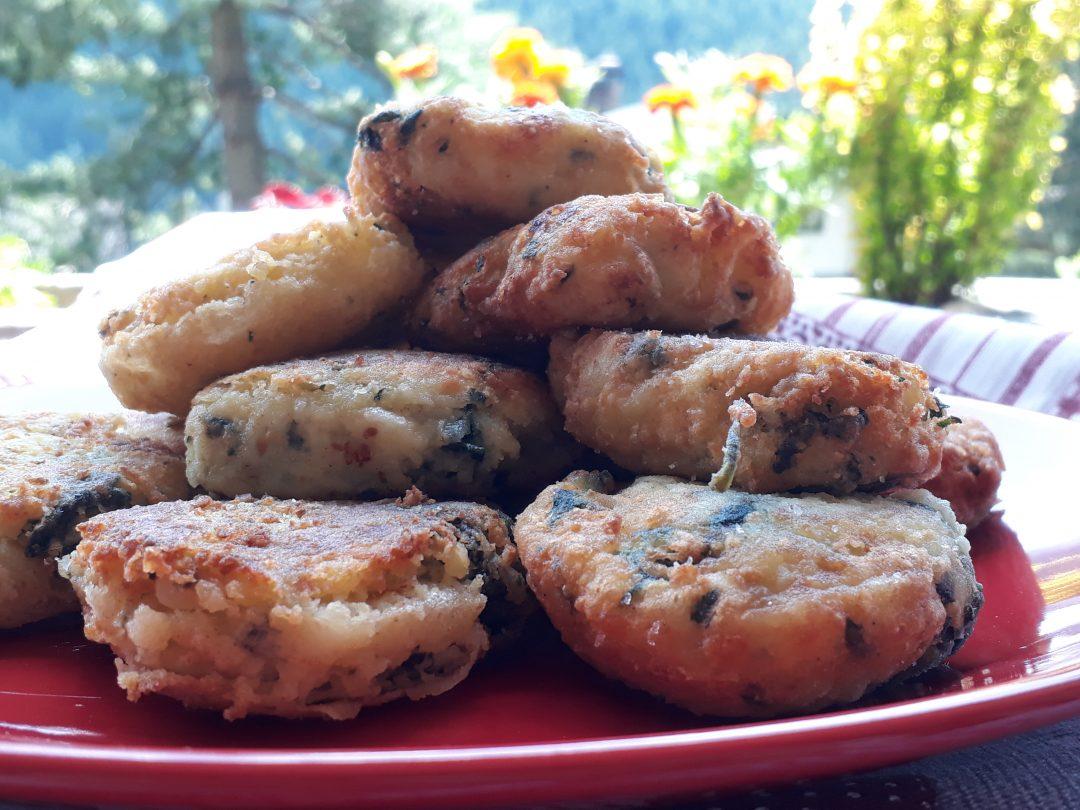 crocchette di patate e ortiche