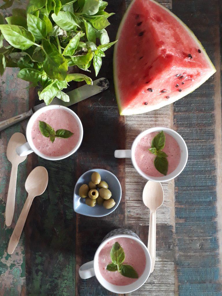 gazpacho con pomodori e anguria