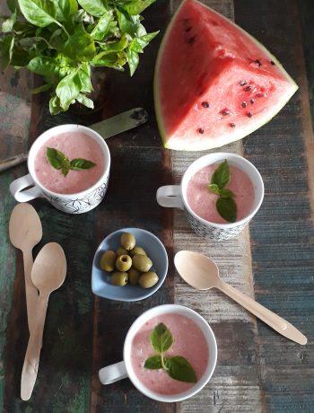 gazpacho con anguria e pomodoro