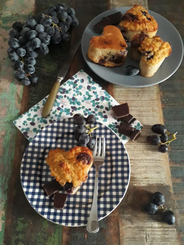 torta di pane all'uva fragola e cioccolato
