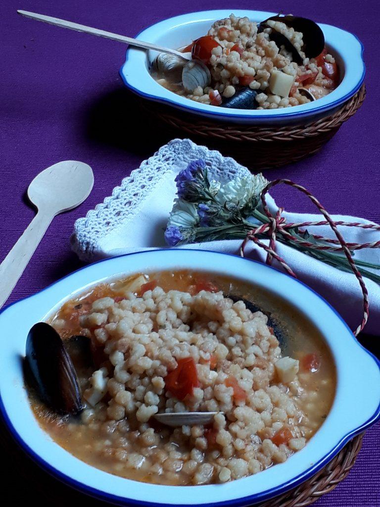 zuppa di pesce e fregola