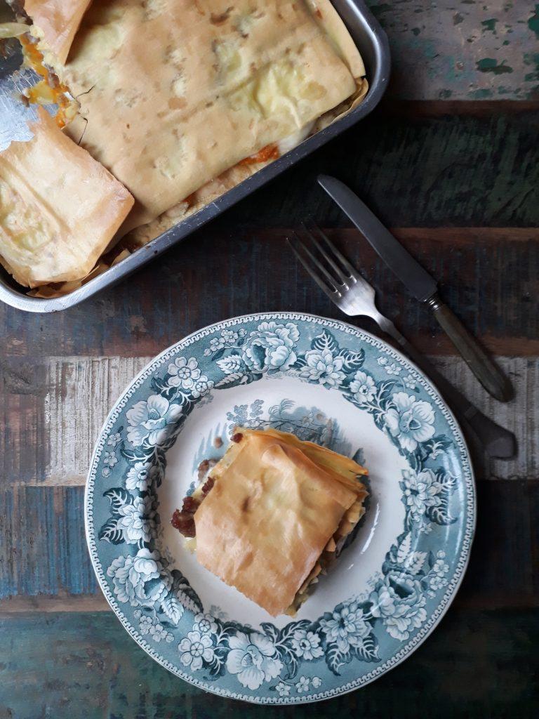 lasagne alla salsiccia e zucca