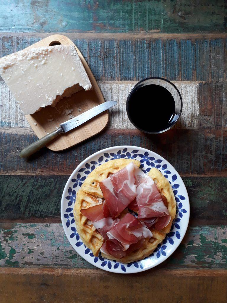 waffle al parmigiano