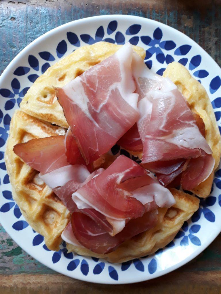 waffle con parmigiano