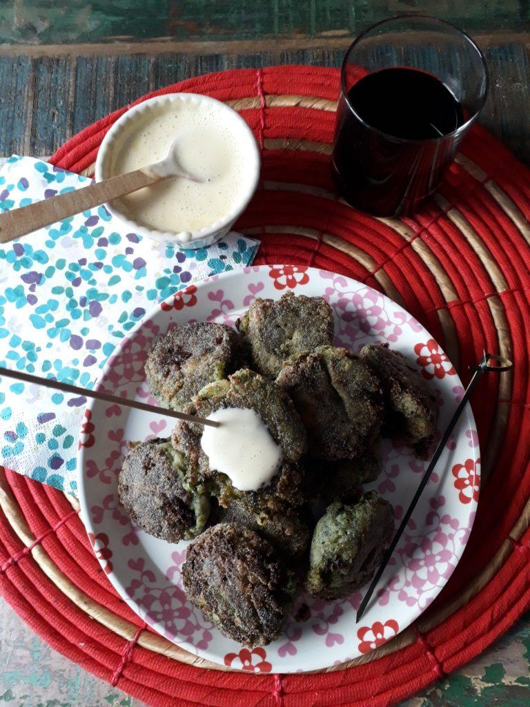 crocchetta con patate e borragine