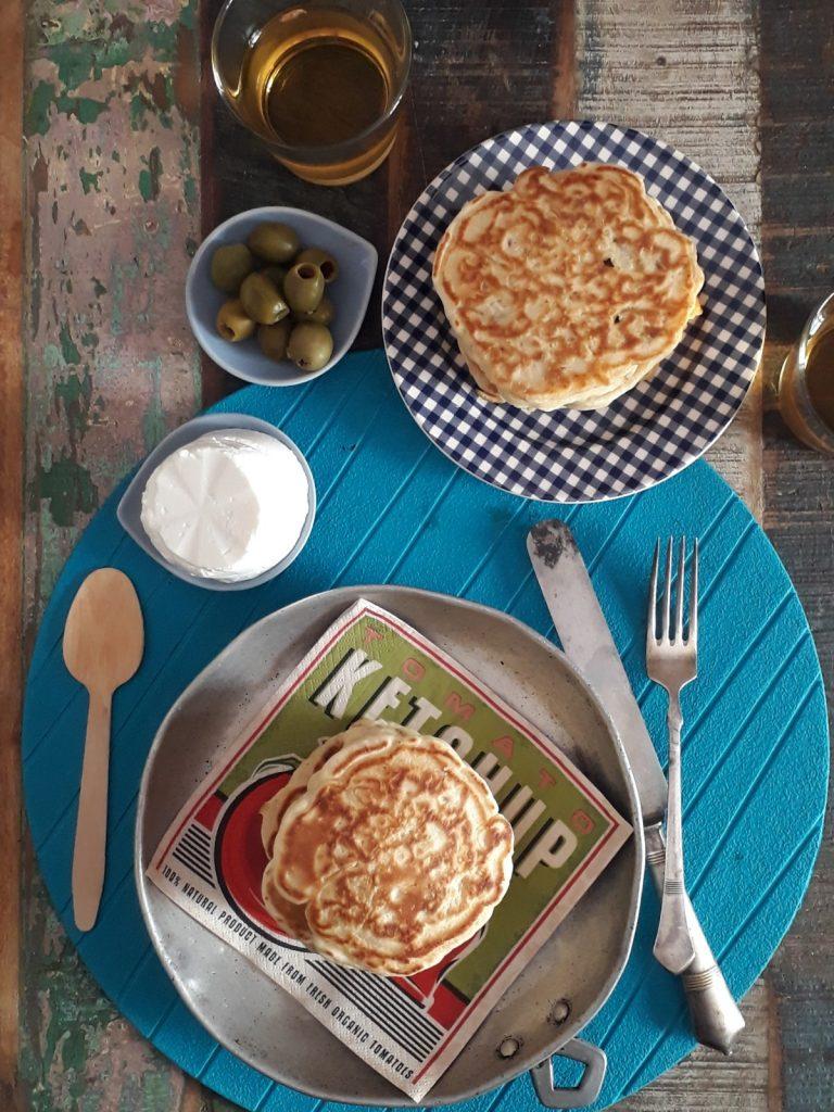 pancake ai cipollotti e pomodori secchi