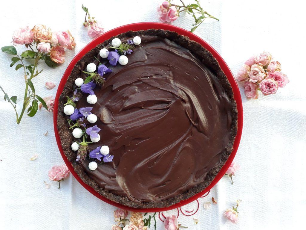 torta con gelo di melone alla ganache al cioccolato