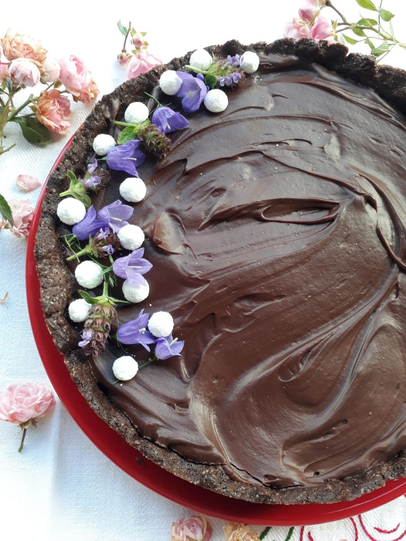 torta al gelo di melone con ganache al cioccolato