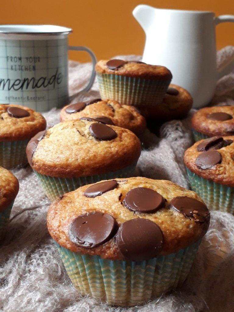 muffin con zucca e cioccolato