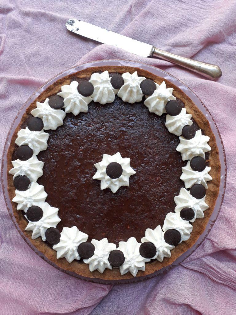 torta al semolino di farro e cioccolato