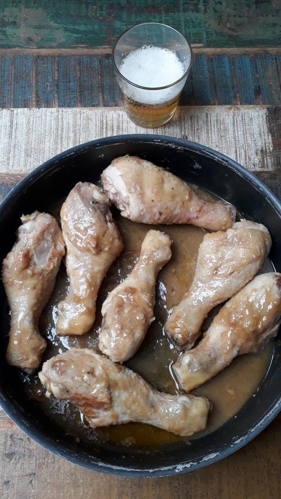 fusi di pollo alla birra