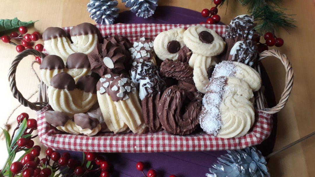 biscotti di frolla montata bicolare