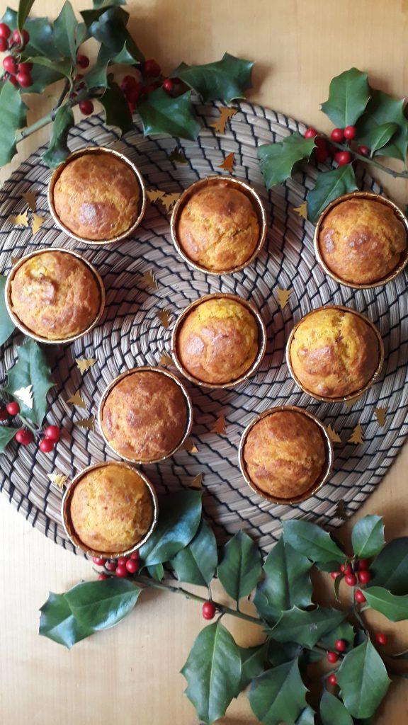 muffin con zucca e speck