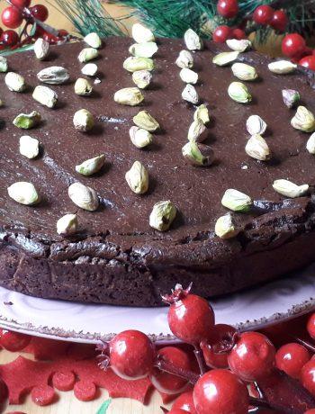 torta con crema di zucca e mix crema al cioccolato