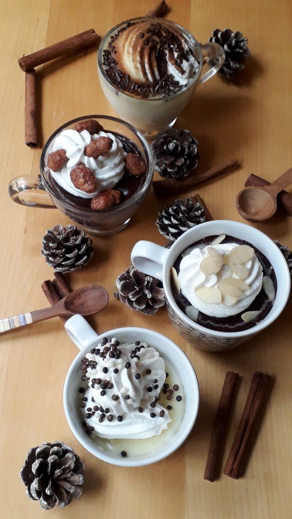 cioccolata calda 4 gusti